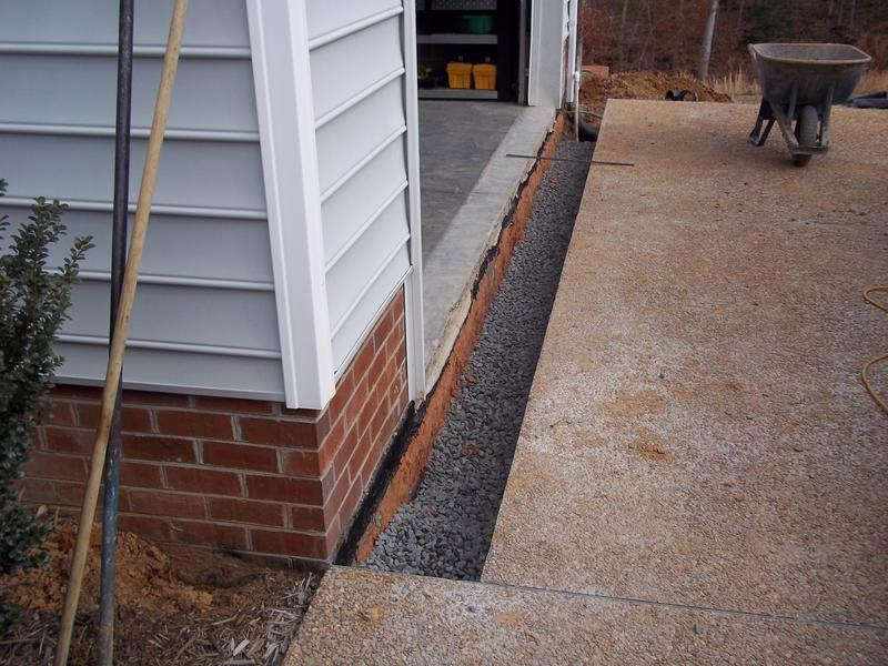 Trench Drain Install During Pic Manchester Area In Chesterfield, VA